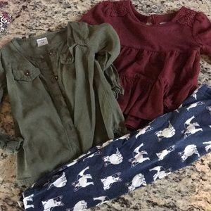 Lot of 4 carters old navy 18 months girls